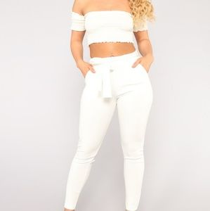 Pants - High waist white pants